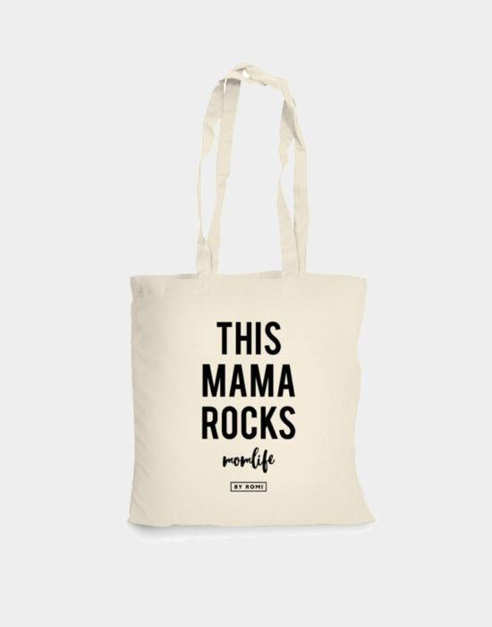 Katoenen shopper: This mama rocks
